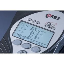 M1323 Registrador de Datos Multilogger CO2, Barómetro, Termohigrómetro con 2 MiniDIN y 2 Terminales