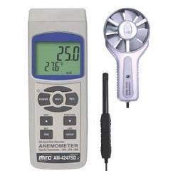 Anemómetro + Flujo de aire + Tarjeta SD