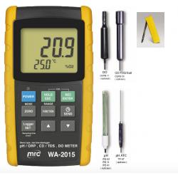 WA-2015 Kit completo de Oxígeno disuelto, pH/ORP/TDS/Conductividad/Temp.