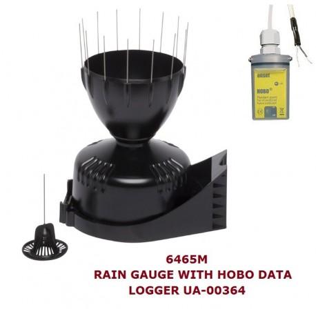 AO-6465M-HOBO Davis Rain Gauge with AeroCone™, support for mast mounting & HOBO UA-003 Logger