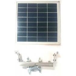 """SP-9V/8W Panel Solar Fotovoltáico de 9V - 8W """"Con Herrajes de Montaje"""""""