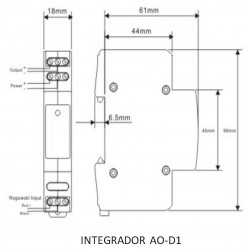 AOD1 Integrador DIN-RAIL