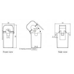 AO-SCT010T-D  Transformador de Corriente de Núcleo Dividido de Salida DC