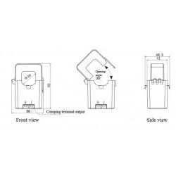 AO-SCT036TS-D Transformador de Corrente de Núcleo Dividido de Saída DC