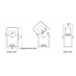 AO-SCT036TS-D  Transformador de Corriente de Núcleo Dividido de Salida DC