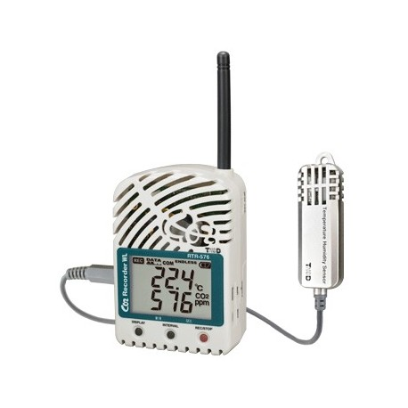 Wireless logger for CO2, temperature and humidity