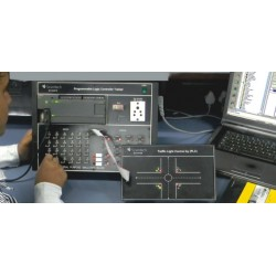 Scientech2423A Traffic Light Control by PLC