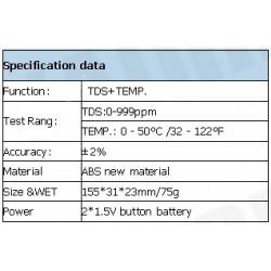 AO-1510 Medidor TDS Tipo Pluma