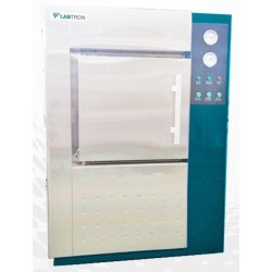LHA-D16 Autoclave Horizontal para Laboratório Controlado por Microprocessador de Porta Dupla (2000 L/ 139 °C)