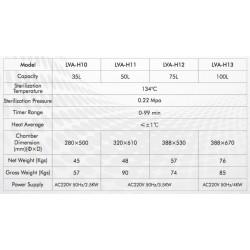 LVA-H10 Vertical Laboratory Autoclave (35 L/ 134 °C)