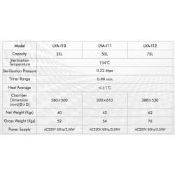 LVA-I12 Autoclave Vertical para Laboratório com Sistema Controlado por Microprocessador (75 L/ 134 °C)