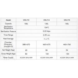 LVA-I13 Autoclave Vertical para Laboratório com Sistema Controlado por Microprocessador (100 L/ 134 °C)