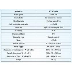 LVAC-A11 Cabine de Fluxo Laminar Vertical