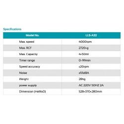 LLS-A32 Centrífuga de Baixa Velocidade (3000 rpm)