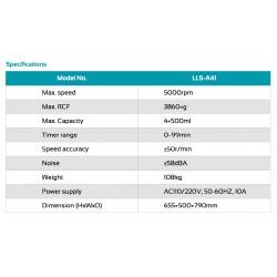 LLS-A41 Centrífuga de Baixa Velocidade (5000 rpm)