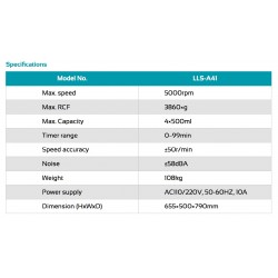 LLS-A41 Low Speed Centrifuge (5000 rpm)