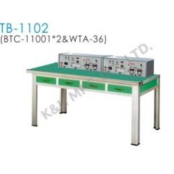TB-1102 Banco de Treinamento (2 x BTC-11001 Console do Banco Superior + WTA-36 Tabela de Trabalho)