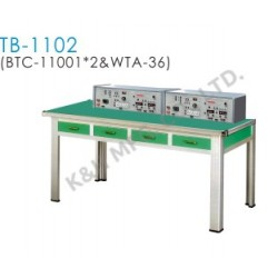 TB-1102 Training Bench (2 x BTC-11001 Bench Top Console + WTA-36 Working Table)