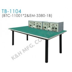TB-1104 Banco de Entrenamiento (2 x BTC-11001 Consola del Banco Superior + EM-3380-1B Mesa de Trabajo)