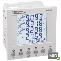 RI-F300 easywire Medidor de Energia Multifunções Monofásico e Trifásico