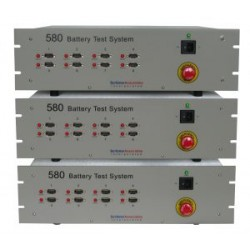 580 Battery Test System (8 channels expandable to 32) (current range from 10 μA to 1 A)