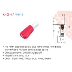 KHG-4 / KHN-4 (Enchufe de 4 mm)