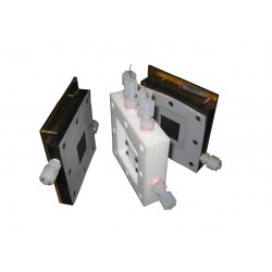 FC-05-02-BT  Pila de combustible PEM de 5cm2 para Conductividad (patrón de flujo serpentina)
