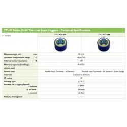 2YL-M37-4M Registrador de Entrada de Múltiples Terminales (Terminales Entrada Flexible - Todos Sensores + Indicador Tensión)