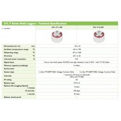 2YL-T11-4M Gravador Múltiplo (1 Sensor Externo PT100 / PT1000, Tensão, Corrente, Pulso)