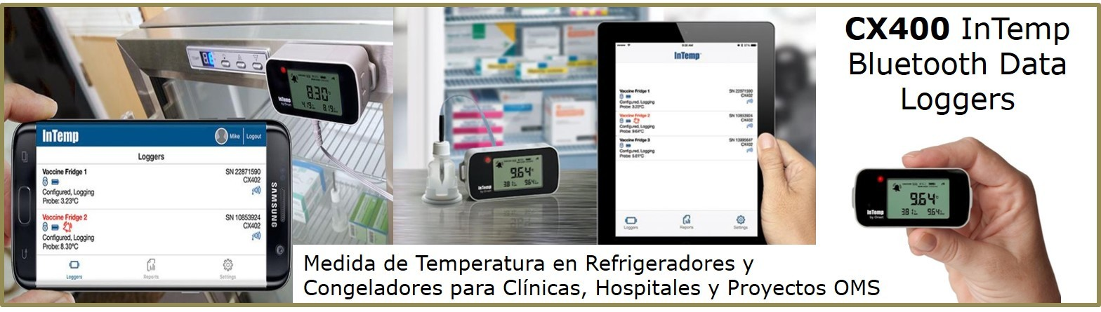 CX400 registrador-datos-bluetooth-temperatura-farmacia-vacunas